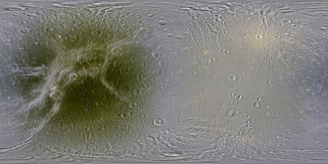 De nieuwe kaart van Dione.