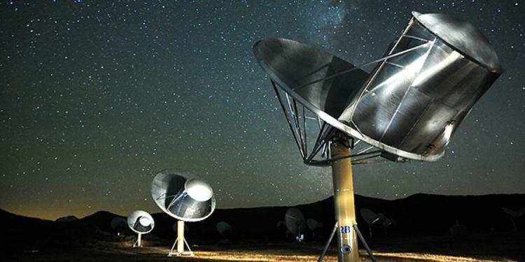 Luisteren naar buitenaards leven. Afbeelding: SETI.