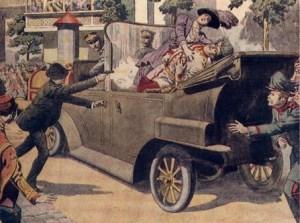 De moordaanslag op Frans Ferdinand.