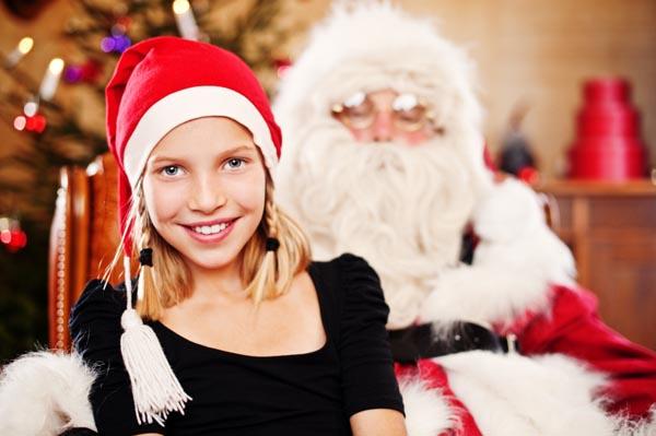 Is dit meisje ouder dan negen jaar? Grote kans dat ze weet dat de kerstman onmogelijk kan bestaan!