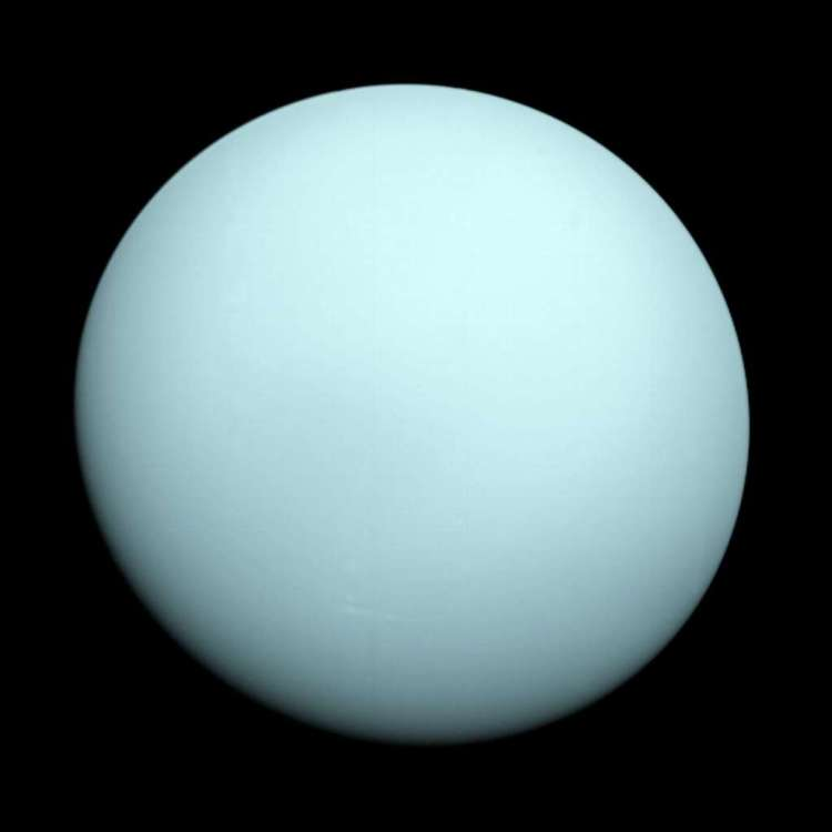 Uranus. Afbeelding: NASA / JPL-Caltech.