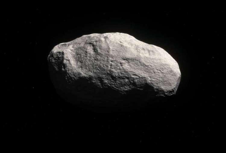 Artistieke impressie van de staartloze komeet  C/2014 S3 (PANSTARRS).