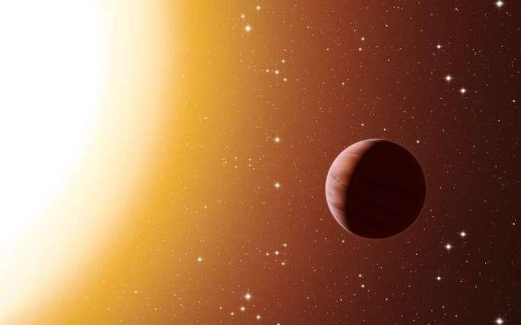 Deze artistieke impressie laat een hete Jupiter in Messier 67 zien. Afbeelding: ESO / L. Calçada.