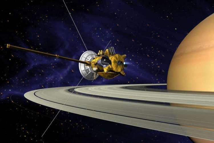 Hier zie je Cassini: een ruimtesonde die ons veel over Saturnus en zijn manen heeft weten te vertellen. Ook waardevol was de input van Huygens: een sonde die op Titan landde. Afbeelding: NASA / JPL.