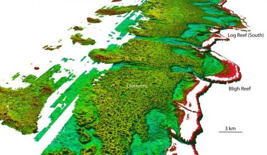 Het ontdekte rif. Afbeelding: Australian Hydrographic Service.