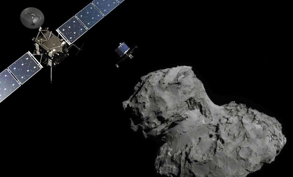 Organisch materiaal in Rosetta's komeet is mogelijk ouder dan ons zonnestelsel