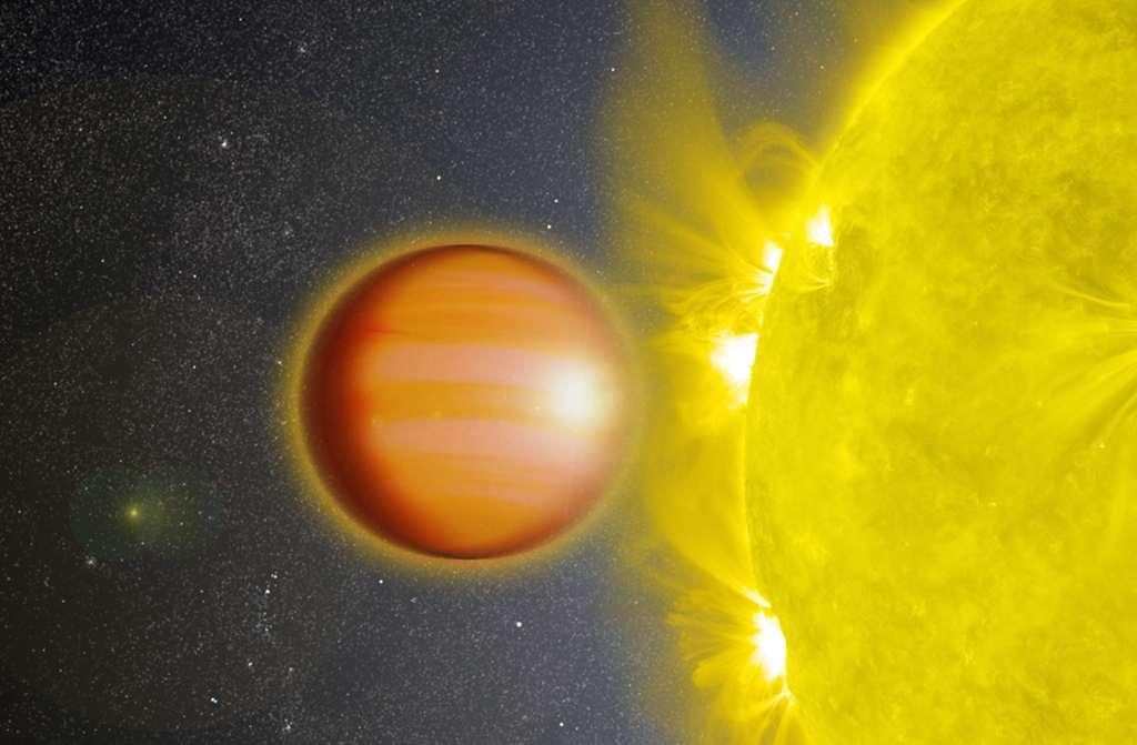 Exoplaneet WASP-18b blijkt een unieke stratosfeer te hebben