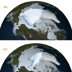Arctic ice melting