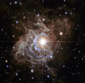 A Hubble Space Telescope image of a variable star called RS Puppis.