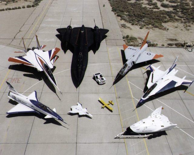 Alcuni velivoli sperimentali sviluppati dalla NASA negli ultimi decenni.