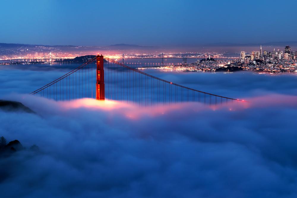 Nebbia costiera a San Francisco (immagine: Francesco Carucci by Shutterstock)