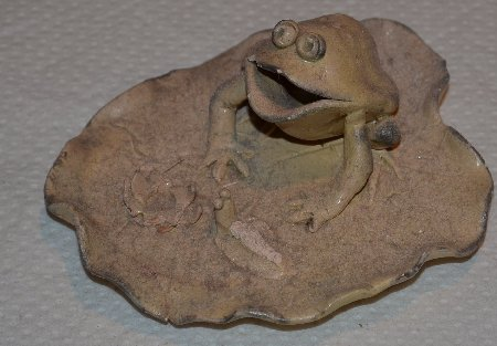 Frog Collection Fired Clay Frog