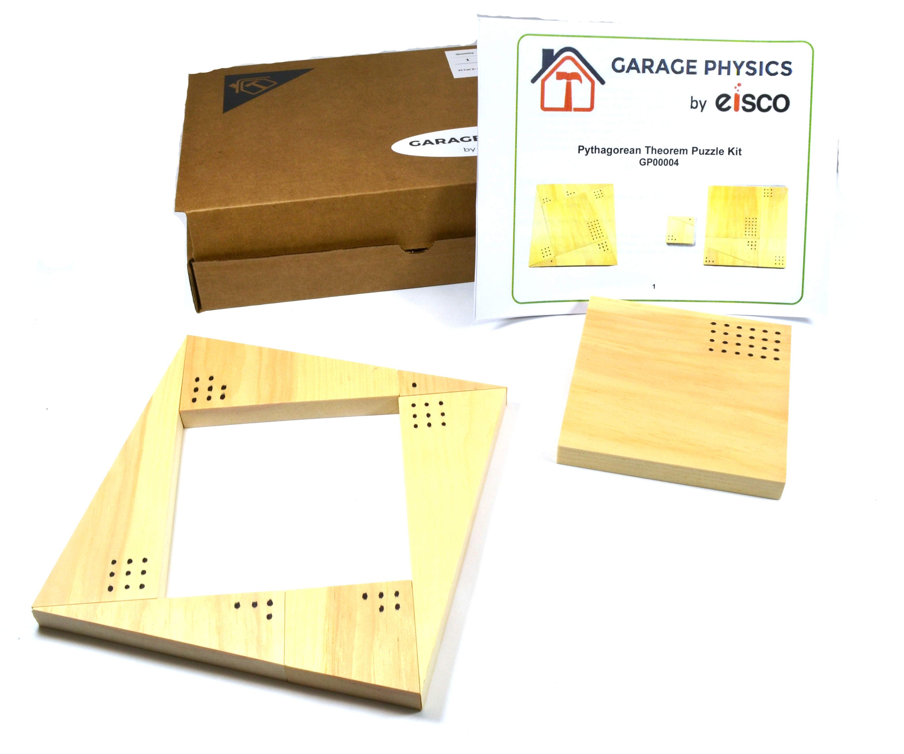 Garage Physics Pythagorean Theorem Puzzle Kit
