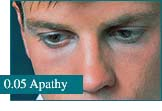 How eyes look at Apathy