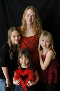 Stephanie - a Scientology counselor at the Church of Scientology in Austin Texas, here with her three girls.