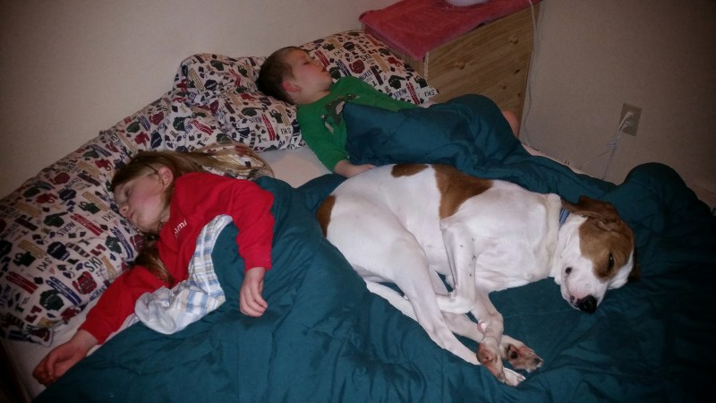 Three Kids Conked Out