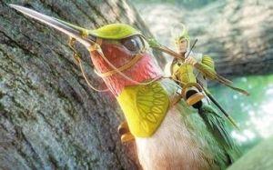 Ronin on his Battle Hummingbird - brandishing his Bow & Arrow