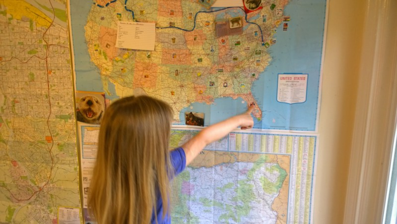 Pointing out States on the Map
