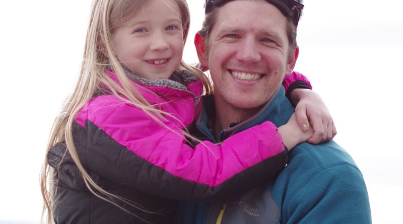 On a daddy/daughter ski trip with my oldest