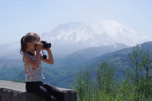 My 8-year-old Photographing Mt. St. Helens