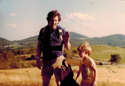 My dad & I in the hills of mid-coast Maiine where I grew up