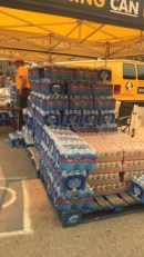 Supplies for the firefighters that we got donations for