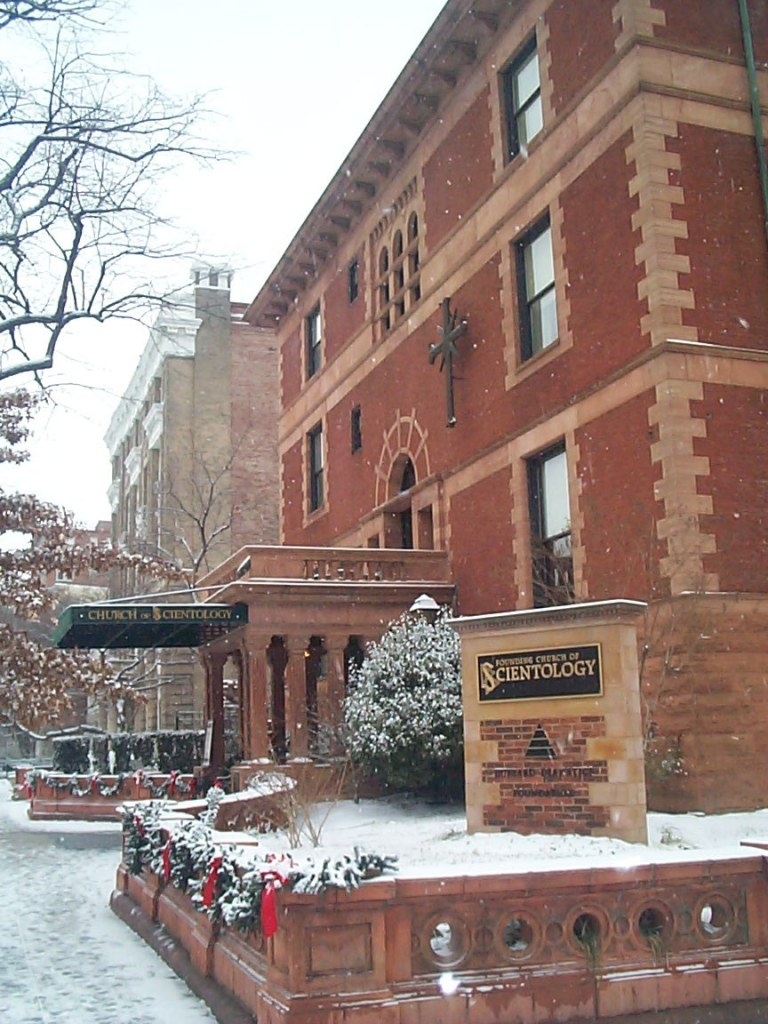 Founding Church of Scientology (Frasier Mansion) in the Snow