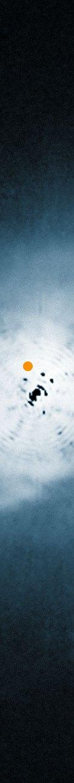 Veduta del disco che circonda la giovane stella HD 100546 ottenuta dal telescopio spaziale Hubble della NASA/ESA