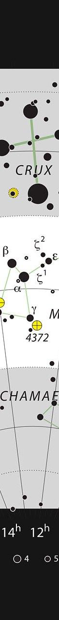 La giovane stella HD 100546 nella costellazione australe della Mosca