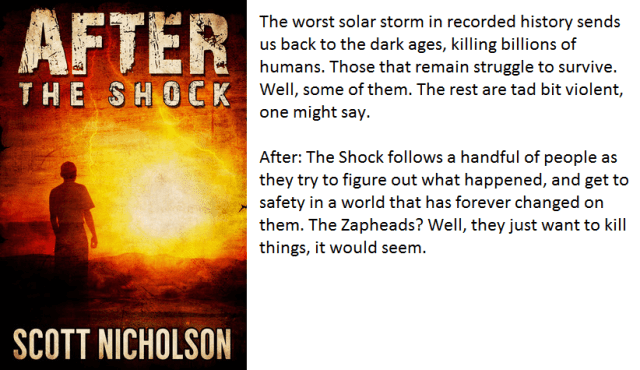Book Cover and Synopsis for After The Shock by Scott Nicholson.
