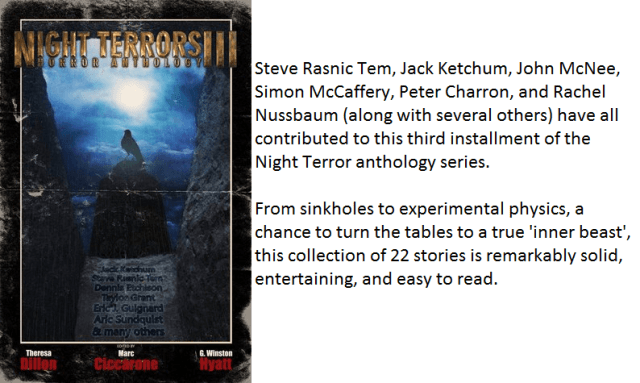 Book Cover and Synopsis for Night Terrors III