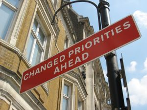 Changed Priorities Sign for Books Reviewed on Kids' Corner