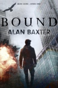Book cover for Bound by Alan Baxter
