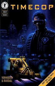 Cover for the 2nd issue of the Timecop graphic novel