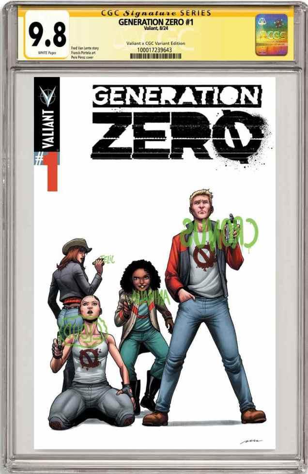 GENERATION ZERO #1 – Valiant x CGC Variant Cover by Pere Perez
