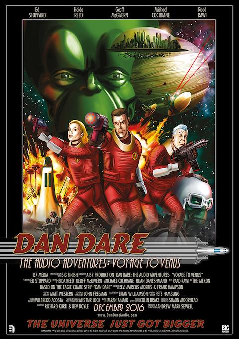 Dan Dare Audio Adventures - Voyage to Venus Poster. Art by Brian Williamson