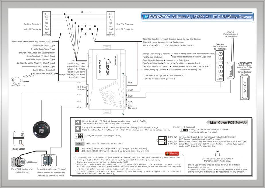 wiring diagram for astrostart model 800 remote starter