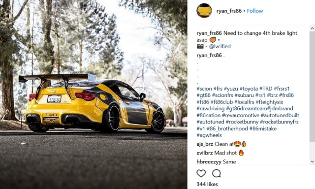 Scionlife.com Instagram Account of the Week #5 Scion Toyota FRS FR-S 86 ryan_frs86