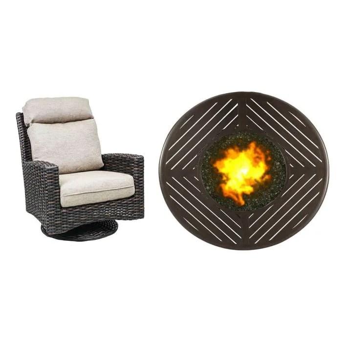 ventura 5 piece fire pit chat set