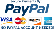 Secure payments with PayPal.