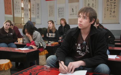 American students' interest in language studies in China is waning. Photo: Imaginechina