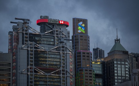 Hong Kong's banking district, Central. The city is attempting to diversify from its key pillars of finance and construction with support for start-ups and innovation. Photo: Bloomberg