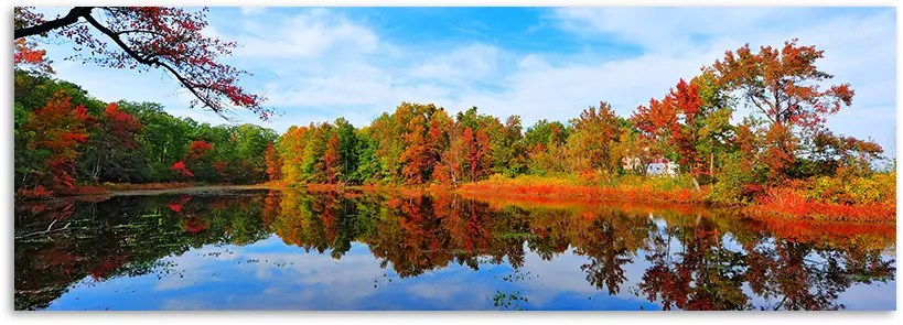 The beautiful colors of fall reflected in a lake.