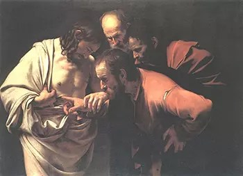 Caravaggio Incredulity of St. Thomas