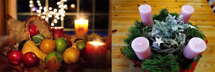 Celebrating Thanksgiving and Advent