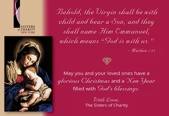 Christmas Blessings from the Sisters of Charity of New York