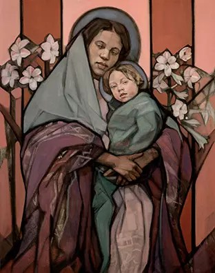 Madonna and Child - Boundless Love copyright 1999 Janet McKenzie