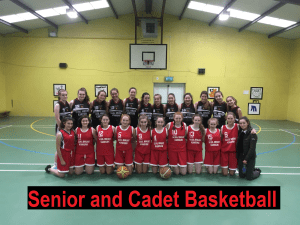 senior and cadet basketball