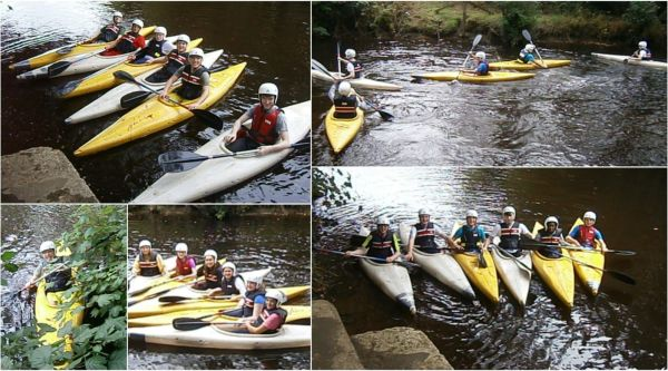 kayaking in river duhallow