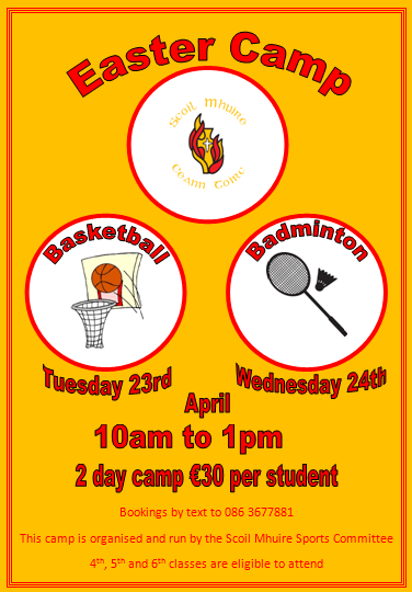easter camp flyer 2019